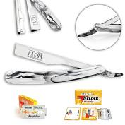 #1 Seller - Facón Professional Straight Edge Barber Razor/Rasoirs/Rasoi - Salon Quality Cut Throat Shavette - Japanese Stainless Steel - NEW 2017 Model Limited Edition - Includes 5 DE Razor Blades.