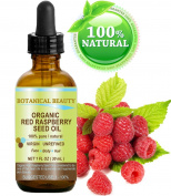 "RED RASPBERRY SEED OIL ORGANIC. 100% Pure / Natural / Undiluted / Virgin / Unrefined Cold Pressed Carrier Oil. 1 Fl.oz.-30 ml. For Skin, Hair, Lip and Nail Care. ""One of the highest anti-oxidant, rich in vitamin A and E, Omega 3, 6 and 9 Essential Fatt .."