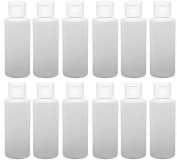 12 - 60ml Travel Bottles with Flip Caps