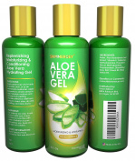 Aloe Vera Gel Moisturiser for Face Skin Hair with Extra Vitamin E Natural - Made in USA