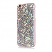 Moonmini Ultra Slim Fit Bling Glitter Shiny Soft TPU Beauty Back Case Cover for iPhone 6 Plus / iPhone 6s Plus - Silver