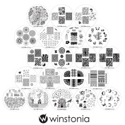 Winstonia Nail Art Image Stamping Plates Collection Set 20 pc 4th Generation - NEW & HOT Designs Water-marbling, Floral, Galaxy, Fantasy