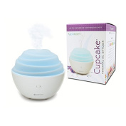 SpaRoom Cupcake Ultrasonic Essential Oil Diffuser and Fragrance Mister, 80mL