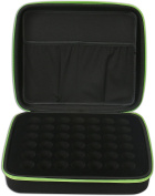 42 Essential Oils Carrying Case (Basil Green) for 5ml, 10ml and 15ml Bottles - Hard Shell Exterior Storage Organiser Holds doTerra, Young Living and endless others by Soothing Wellness Essentials