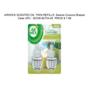 AIRWICK SCENTED OIL TWIN REFILLS