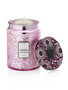 Voluspa Japanese Plum Bloom Large Embossed Glass Jar Candle 470ml