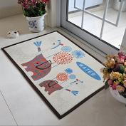 CLG-FLY Cotton fabric cute cartoon anti-slip mat door mat den mats bathroom mats,400mm×600mm,1