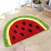 CLG-FLY Watermelon cartoon pratunam pad bedroom mats bathroom toilet door mat lovely semicircular feet,50×80CM,1