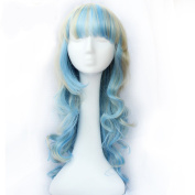 KISS HAIR Cosplay Wig Synthetic Wig Two Colour Mixed Wavy Curl Style