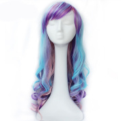 KISS HAIR Cosplay Wig Long Wavy Synthetic Hair Wig Multi Colour