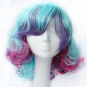 KISS HAIR Cosplay Wig Multi Colour Party Show Hair Synthetic Hair Wig