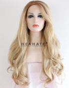 Heahair Ash Blonde Synthetic Lace Front Wigs HS3009
