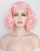 Heahair Pink Wave Synthetic Lace Front Wigs HS3005