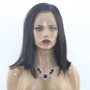 MeiRun Full Lace Human Hair Wig Natural Black Colour 30cm Silky Straight Brazilian Virgin Human Hair