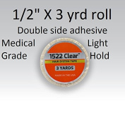 3m Clear 1522 Tape 1.3cm X 3 yard = Double side adhesive