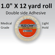 3m Clear 1522 Tape 2.5cm X 12 yard = Double side adhesive