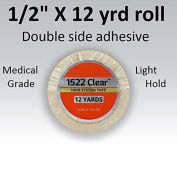 3m Clear 1522 Tape 1.3cm X 12 yard = Double side adhesive