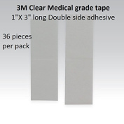 3m Clear 1522 Tape 2.5cm Straight = Double side adhesive =1 pack of 36pcs
