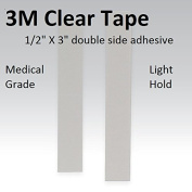 3m Clear 1522 Tape 1.3cm Straight = Double side adhesive =1 pack of 36pcs