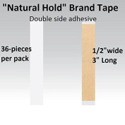 Natural Hold Tape 1.3cm X 7.6cm Straight Strips Double side adhesive 36-pcs