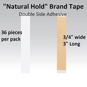 Natural Hold Tape 1.9cm X 7.6cm Straight Strips Double side adhesive 36-pcs