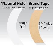 "Natural Hold Tape Contour Shape ""CC"" double side adhesive 36-pcs."
