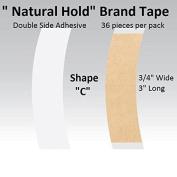 "Natural Hold Tape Contour Shape ""C"" double side adhesive 36-pcs."