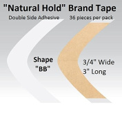 """Natural Hold Tape Contour Shape """"BB"""" double side adhesive 36-pcs."""