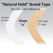 """Natural Hold Tape Contour Shape """"A"""" double side adhesive 36-pcs."""