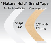 """Natural Hold Tape Contour Shape """"AA"""" double side adhesive 36-pcs."""