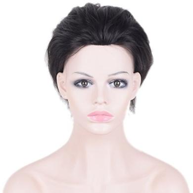 Auspiciouswig Natural Human Hair Pieces Men's Toupee Wigs for Men 25cm x 18cm (Natural Colour)