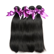 Missexy Hair Brazilian Hair 4 Bundles Straight Unprocessed Real Human Hair for Woman