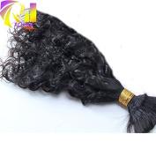 RJ Hair Brazilian Loose Wave Hair Bulk 100% Unprocessed Human Braiding Hair Bulk No Weft Natural Colour 36cm