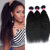 Longjia Hair Brazilian Virgin Hair kinky straight Unprocessed Kinky Straight Hair Yaki Human Hair Extension