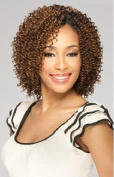 MilkyWay Que JERRY CURL 3PCS Human Hair MasterMix Weave Extension #1B/30 by Milky Way