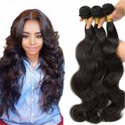 Wome Hair Brazilian Virgin Hair Body Wave 4 Bundles 100% Unprocessed Human Hair Weave Extensions Natural Colour