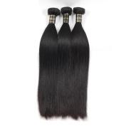 Glamorous Remi Brazilian Virgin Hair Silk Straight Human Hair Natural Colour 100g per Pcs (Pack of 3Pcs)