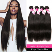ANNMODE Malaysian Straight Hair 4 Bundles 7a 100% Unprocessed Remy Human Hair Bundles 95-100g Silky Straight Human Hair Natural Colour Can be Dyed 18 18 18 46cm