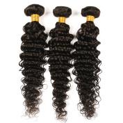 BeautyGirl Hair Brazilian Deep Wave Virgin Hair 3Bundles Lot Mix Length Unprocessed Brazilian Hair Extensions