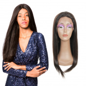 Dressmaker Prestige Silky Straight Weaving Full Lace Wigs Unprocessed Virgin Remy Human Hair 130% Density Full Hand-tied Natural Colour 10-60cm Full Lace Human Hair Wigs For Black Women