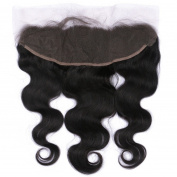 FDshine Brazilian Lace Frontal Closure Body Wave Natural Human Hair Frontal Ear to Ear Closures with Baby Hair 33cm x 10cm Free Part
