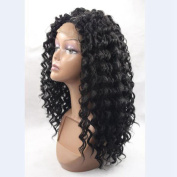 Natural Looking Kinky Curly Hair Synthetic Wig For Woman 60cm Real Hair Glueless Lace Wig