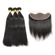 Cynthia Beauty Lace Frontal Closure with Bundles Malaysian Straight Hair Bundle Deals with Frontal 3 Bundles Human Hair Weave with Frontal Closure
