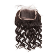 360 band Lace Frontal Brazilian Human Hair Loose Closure Hand-tied Lace Frontal Bleached Knots