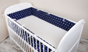 Cot bumper with Nest Head Guard Bumper 420x30 cm 360X30 CM 180x30 cm Cot Bumper Blue Star Cot Bumper Bed
