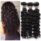 Ali Funmi Brazilian Virgin Deep Curly Wave Hair Weft 20 22 60cm 3 Bundles Unprocessed Human Hair Weave Extensions Natural Colour