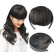 Beauty Angelbella Fashion Headband Neat Bangs Forehead Synthetic Hair Extensions for Girls