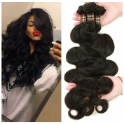 Ali Funmi Brazilian Body Wave Virgin Hair 12 14 41cm 3 Bundles Unprocessed Virgin Brazilian Wet and Wavy Human Hair Weave Extensions Natural Colour