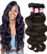 Beauty Forever Hair Brazilian Weave Virgin Hair Body Wave 3 bundles 100% Human Hair Extensions Natural Colour 95-100g/pc