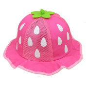 FEITONG(TM) New Baby Unisex Baseball Cap Mesh Sunhat Strawberry Raindrop Shaped Hat